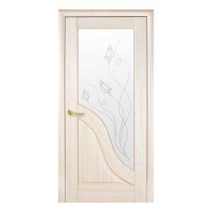 Амата со стеклом сатин и рисунком